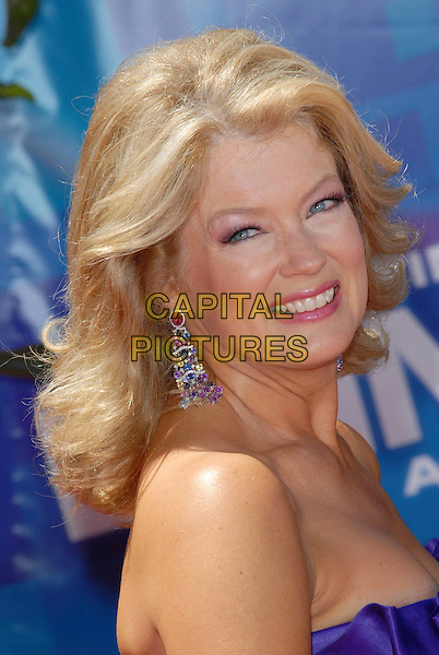 MARY HART.58th Annual Primetime Emmy Awards held at the Shrine Auditorium, Los Angeles, California, USA..August 27th, 2006.Ref: ADM/CH.headshot portrait purple earrings.www.capitalpictures.com.sales@capitalpictures.com.©Charles Harris/AdMedia/Capital Pictures.