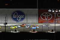 12-13 February, 2016, Daytona Beach, Florida, USA<br /> Late race crash involving Carl Edwards, Arris Toyota Camry, Casey Mears, Kyle Busch, M&M's 75 Toyota Camry and Aric Almirola.<br /> ©2016, F. Peirce Williams