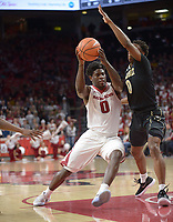 NWA Democrat-Gazette/ANDY SHUPE<br /> Arkansas' Vanderbilt's Saturday, Feb. 10, 2018, during the second half of play in Bud Walton Arena in Fayetteville. Visit nwadg.com/photos to see more photographs from the game.