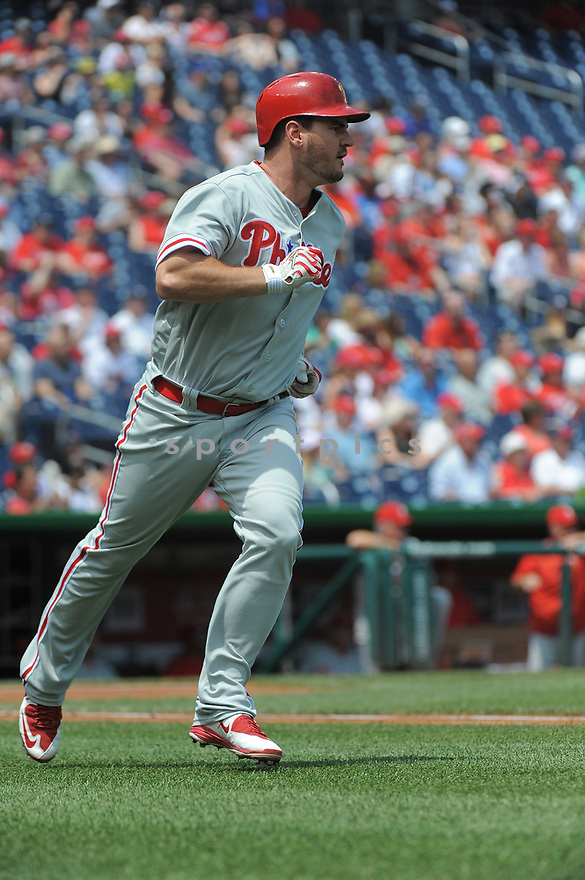 Philadelphia Phillies Tommy Joseph (19) during a game against the Washington Nationals on June 11, 2016 at Nationals Park in Washington, DC. The Nationals beat the Phillies 8-0.