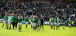 13.05.2018 Hibs v Rangers: Hibs players on lap of honour at the end