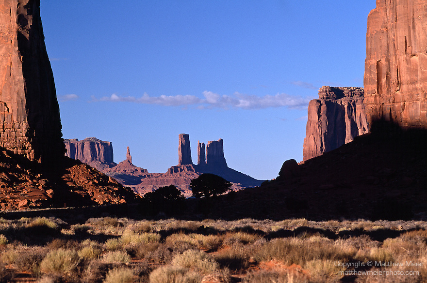 Monument Valley, AZ; view of East Mitten Butte from North Window, Najavo Tribal Nation