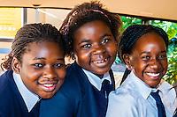 School children, Gold Reef City, Johannesburg, South Africa.