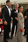 "WILL SMITH, JADA PINKETT SMITH. Red carpet arrivals to the annual ""Red Tie Affair,"" benefitting the American Red Cross of Santa Monica, and honoring the humanitarian spirit of those who have shown courage, unselfish character and whose work has saved lives. At the Fairmont Miramar. Santa Monica, CA, USA. April 17, 2010."