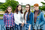 Jancinta Murphy Beaufort, Sarah Finnan Glenflesk, Michaela O'Sullivan Milltown and Keavy Golden Killorglin at The Voice auditions in Killarney School of Music on Tuesday