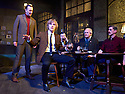 Hangmen by Martin McDonagh, directed by Matthew Dunster. With  Johnny Flynn as Mooney[holding glass]Opens at The Royal Court Jerwood Theatre Downstairs on 18/9/15. CREDIT Geraint Lewis