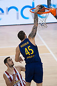 3rd November 2017, Palau Blaugrana, Barcelona, Spain; Turkish Airlines Euroleague Basketball, FC Barcelona Lassa versus Olympiacos Piraeus; 45 MOERMAN, ADRIEN of FC Barcelona Lassa in action during the match of round 5 of regular season in the 2017/2018 Turkish Airlines EuroLeague