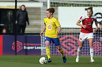 Vivianne Miedema of Arsenal Women  and Aoife Mannion of Birmingham City Women during Arsenal Women vs Birmingham City Ladies, FA Women's Super League Football at Meadow Park on 4th November 2018