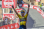 Wout Van Aert (BEL) Team Jumbo-Visma wins the 2020 Strade Bianche Elite Men running 184km from Fortezza Medicea Siena to Piazza del Campo Siena, Italy. 1st August 2020.<br /> Picture: LaPresse/Gian Mattia D'Alberto | Cyclefile<br /> <br /> All photos usage must carry mandatory copyright credit (© Cyclefile | LaPresse/Gian Mattia D'Alberto)