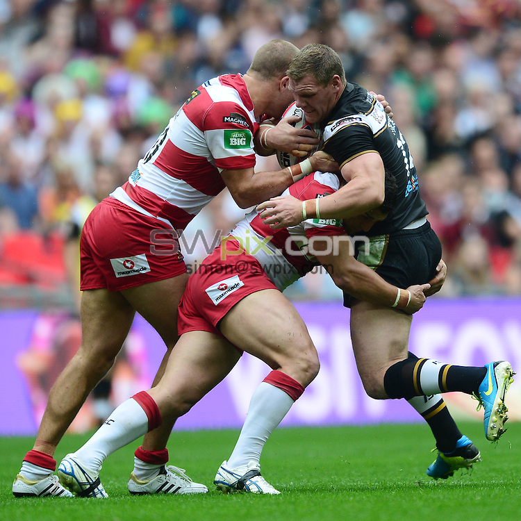 PICTURE BY ALEX BROADWAY/SWPIX.COM - Rugby League - 2013 Tetley's Challenge Cup Final - Hull FC v Wigan Warriors - Wembley Stadium, London, England - 24/08/2013 - Danny Tickle of Hull.