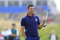 Rory McIlroy Team Europe putts on the 9th green during Friday's Fourball Matches at the 2018 Ryder Cup, Le Golf National, Iles-de-France, France. 28/09/2018.<br /> Picture Eoin Clarke / Golffile.ie<br /> <br /> All photo usage must carry mandatory copyright credit (© Golffile | Eoin Clarke)