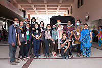 "Volunteers from ""I to WE"" poses for a group photo in a hospital at Kathmandu, Nepal. May 05, 2015"