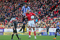 Darren Pratley of Charlton Athletic and Atdhe Nuhiu of Sheffield Wednesday during Charlton Athletic vs Sheffield Wednesday, Sky Bet EFL Championship Football at The Valley on 30th November 2019