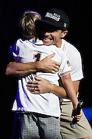 UNIVERSAL CITY, CA - SEPTEMBER 04: Singer Baylee Littrell (son of Brian Littrell of the Backstreet Boys) performs on stage at the Gibson Amphitheatre on September 4, 2013 in Universal City, California. (Photo by Xavier Collin/Celebrity Monitor)