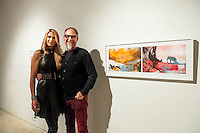 Art Consultant Lia Martino and Terry Tincher at Unit A Contemporary Art Space during Art Walk in Downtown Fort Myers River District, Fort Myers, Florida, USA, March 1, 2013. Photo by Debi Pittman Wilkey