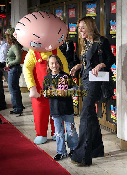 "KRISTA ALLEN & STEWIE GRIFFIN.""Family Guy Presents Stewie Griffin: The Untold Story"" DVD Premiere Arrivals held at the Mann National Theater,Westwood, California.  .September 27th, 2005.Photo Credit: Zach Lipp/AdMedia/Capital Pictures.Ref: ZL/ADM.full length with child costume.www.capitalpictures.com.sales@capitalpictures.com.© Capital Pictures."