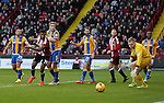 Ethan Ebanks-Landell of Sheffield Utd looks on as the ball rolls wide during the English League One match at the Bramall Lane Stadium, Sheffield. Picture date: November 19th, 2016. Pic Simon Bellis/Sportimage