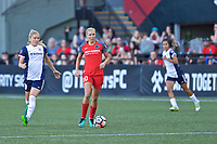Portland, OR - Saturday July 22, 2017: Kristie Mewis, Allie Long during a regular season National Women's Soccer League (NWSL) match between the Portland Thorns FC and the Washington Spirit at Providence Park.