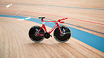 Ridley Bike's Arena TT dubbed &quot;The Flying Moustache&quot; the name given to European Time Trial Champion Victor Campenaerts (BEL) bike to set the new UCI Hour Record holder after covering 55,089 km, beating Bradley Wiggins record by 563 metres. Aguascalientes, Mexico. 16th April 2019.<br /> Picture: Ridley Bikes | Cyclefile<br /> <br /> All photos usage must carry mandatory copyright credit (&copy; Cyclefile | Ridley Bikes)