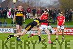 Ronan Buckley, East Kerry in action against Mark O'Shea, Dr Crokes  during the Kerry County Senior Club Football Championship Final match between East Kerry and Dr. Crokes at Austin Stack Park in Tralee, Kerry.