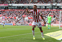 Stoke City's Jordan Cousins reacts to a linesman decision <br /> <br /> Photographer Stephen White/CameraSport<br /> <br /> The EFL Sky Bet Championship - Stoke City v Queens Park Rangers - Saturday 3rd August 2019 - bet365 Stadium - Stoke-on-Trent<br /> <br /> World Copyright © 2019 CameraSport. All rights reserved. 43 Linden Ave. Countesthorpe. Leicester. England. LE8 5PG - Tel: +44 (0) 116 277 4147 - admin@camerasport.com - www.camerasport.com