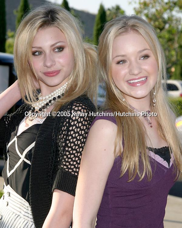 "Alyson and Amanda Michalka.""Aly and AJ"".""belle gray"" Boutique Opening.Calabasas, CA.June 30, 2005.©2005 Kathy Hutchins / Hutchins Photo"