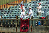 November 5th 2017, WACA Ground, Perth Australia; International cricket tour, Western Australia versus England, day 2; Members of the Balmy Army sing songs during the opening session of the tour match between Western Australia and England