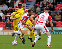 Fleetwood Town's Paddy Madden chases down Doncaster Rovers' Herbie Kane<br /> <br /> Photographer David Shipman/CameraSport<br /> <br /> The EFL Sky Bet League One - Doncaster Rovers v Fleetwood Town - Saturday 6th October 2018 - Keepmoat Stadium - Doncaster<br /> <br /> World Copyright &copy; 2018 CameraSport. All rights reserved. 43 Linden Ave. Countesthorpe. Leicester. England. LE8 5PG - Tel: +44 (0) 116 277 4147 - admin@camerasport.com - www.camerasport.com