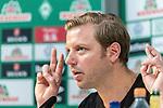 10.07.2020, PK-Raum in der Ostkurve des wohninvest Weserstadions , Bremen, GER, Pressekonferenz der Geschäftsführung Werder Bremen<br /> Zum Abschluss der Saison 2019/2020 lud der SV Werder Bremen  zur PK ein - Thema: Ergebnisse der Gespräche zur Aufarbeitung der zurückliegenden Bundesligasaison<br /> <br /> im Bild / picture shows <br /> <br /> <br /> Florian Kohfeldt (Trainer SV Werder Bremen)<br /> <br /> Foto © nordphoto / Kokenge