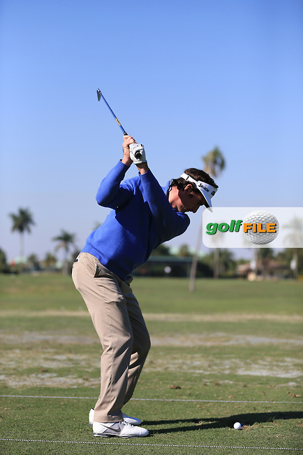 Gonzalo Fdez-Castano (ESP) on the range during the WGC Cadillac championship at Doral Golf Resort & Spa,Doral, Florida,USA..Picture: Fran Caffrey / www.golffile.ie ..