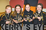 Young players of the year who received their awards at the Coist Na Nog awards night in Listowel Emmett,s club on Friday night. from l-r Eva O'Flynn (under seven), Olivia Stack (under eight), Shannon McCarthy (under Nine), and Evelyn O'Flynn .(under ten)..