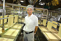 Tadashi Kozuka in a factory belonging to Nikko Yuba, Utsunomiya, Tochigi pref, Japan, June 26, 2010.