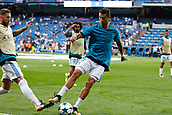 13th September 2017, Santiago Bernabeu, Madrid, Spain; UCL Champions League football, Real Madrid versus Apoel; Sergio Ramos Garcia (4) Real Madrid Cristiano Ronaldo dos Santos (7) Real Madrid's player.
