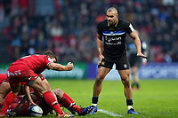 Jonathan Joseph of Bath Rugby looks on. Heineken Champions Cup match, between Stade Toulousain and Bath Rugby on January 20, 2019 at the Stade Ernest Wallon in Toulouse, France. Photo by: Patrick Khachfe / Onside Images