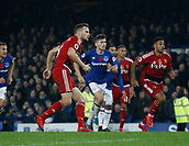 5th November 2017, Goodison Park, Liverpool, England; EPL Premier League Football, Everton versus Watford; Tom Cleverley of Watford misses a penalty in added time that would have levelled the scores at 3-3