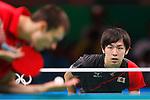 Koki Niwa (JPN), <br /> AUGUST 8, 2016 - Table Tennis : <br /> Men's Singles Preliminary Round 3 <br /> at Riocentro - Pavilion 3 <br /> during the Rio 2016 Olympic Games in Rio de Janeiro, Brazil. <br /> (Photo by Sho Tamura/AFLO SPORT)