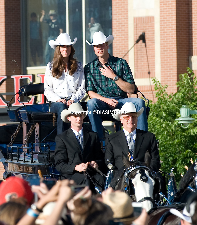 """PRINCE WILLIAM & KATE CANADA.watch a rodeo display and attend reception at the BMO Centre, Calgary_07/07/2011.Mandatory Credit Photo: ©DIASIMAGES. .**ALL FEES PAYABLE TO: """"NEWSPIX INTERNATIONAL""""**..No UK Usage until 03/08/2011.IMMEDIATE CONFIRMATION OF USAGE REQUIRED:.DiasImages, 31a Chinnery Hill, Bishop's Stortford, ENGLAND CM23 3PS.Tel:+441279 324672  ; Fax: +441279656877.Mobile:  07775681153.e-mail: info@newspixinternational.co.uk"""