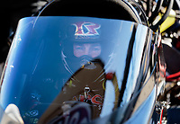 Feb 11, 2019; Pomona, CA, USA; NHRA top fuel driver Billy Torrence during the Winternationals at Auto Club Raceway at Pomona. Mandatory Credit: Mark J. Rebilas-USA TODAY Sports
