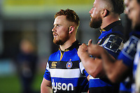 Rory Jennings of Bath Rugby looks on after the match. Anglo-Welsh Cup match, between Bath Rugby and Leicester Tigers on November 4, 2016 at the Recreation Ground in Bath, England. Photo by: Patrick Khachfe / Onside Images