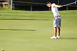 Duramed Futures Tours' Sam White from Potomac; Maryland reacts after missing her putt on the 9th hole at the Alliance Bank Golf Classic in Syracuse NY.