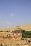 Israel, Upper Galilee, ruins of Khan Jub Yusuf from the Mamluk period