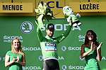 World Champion Peter Sagan (SVK) Bora-Hansgrohe retains the Green Jersey at the end of Stage 14 of the 2018 Tour de France running 188km from Saint-Paul-Trois-Chateaux to Mende, France. 21st July 2018. <br /> Picture: ASO/Pauline Ballet | Cyclefile<br /> All photos usage must carry mandatory copyright credit (&copy; Cyclefile | ASO/Pauline Ballet)