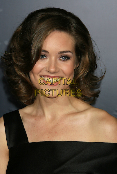 "MEGAN BOONE .""The Spirit"" Los Angeles Premiere held at Grauman's Chinese Theater, Hollywood, California, USA..December 17th, 2008.headshot portrait black off the shoulder .CAP/ADM/MJ.©Michael Jade/AdMedia/Capital Pictures."
