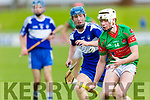 Keane's Super Valu Minor Hurling Championship semi-finals: Crotta O'Neill's vs St. Brendan's at Austin Stack Park on Saturday. Pictured Brendan's Diarmuid O'Connor and Crotta's Barry Mahony
