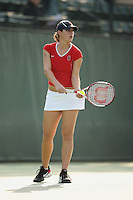 25 January 2007: Lindsay Burdette during Stanford's 7-0 win over UC Davis at the Taube Family Tennis Stadium in Stanford, CA.