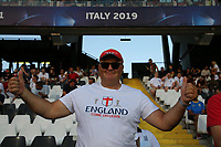 England supporters cheer on<br /> Cesena 18-06-2019 Stadio Dino Manuzzi <br /> Football UEFA Under 21 Championship Italy 2019<br /> Group Stage - Final Tournament Group C<br /> England - France<br /> Photo Cesare Purini / Insidefoto