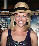 Broadway Star Ashley Spencer.attending  a screening of 'Rock Of Ages' at the Regal E-Walk Stadium Theaters in New York City on June 11, 2012.