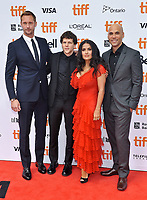 08 September 2018 - Toronto, Ontario, Canada - Alexander Skarsg&aring;rd, Jesse Eisenberg, Salma Hayek, Kim Nguyen. &quot;The Hummingbird Project&quot; Premiere - 2018 Toronto International Film Festival held at the Princess of Wales Theatre. <br /> CAP/ADM/BPC<br /> &copy;BPC/ADM/Capital Pictures