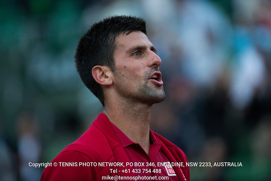 NOVAK DJOKOVIC (SRB)<br /> <br /> TENNIS - FRENCH OPEN - ROLAND GARROS - ATP - WTA - ITF - GRAND SLAM - CHAMPIONSHIPS - PARIS - FRANCE - 2016  <br /> <br /> <br /> <br /> &copy; TENNIS PHOTO NETWORK