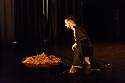 "London, UK. 09.03.2017. Kathak dancer, Aakash Odedra, dances ""Echoes"", choreographed by Aditi Mangaldas, in a double bill (alongside ""I Imagine""), in the Lilian Baylis Studio, Sadler's Wells. Photograph © Jane Hobson."